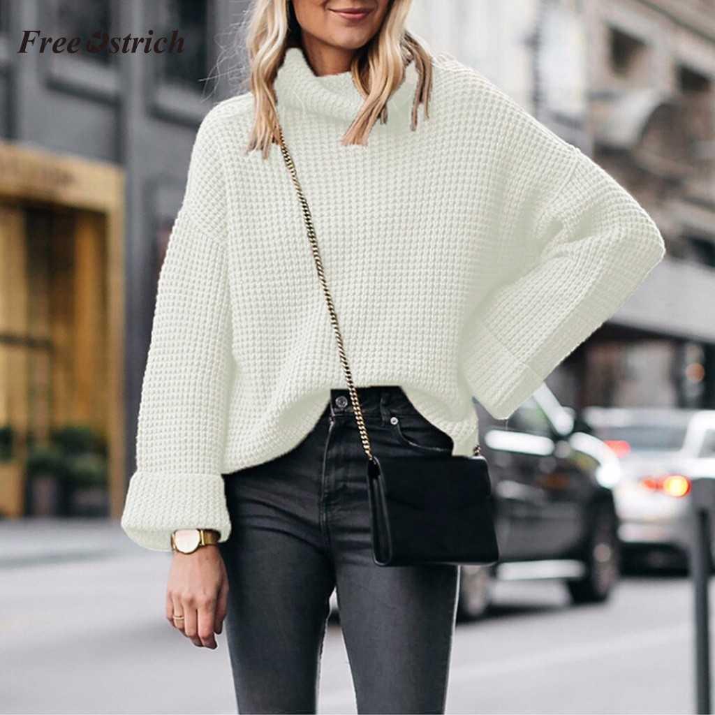 свитер спицами вафельным узором
