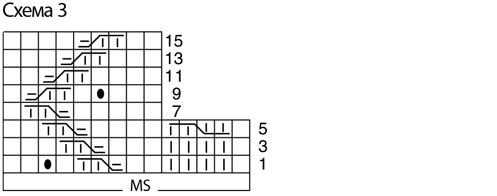 узор из шишечек схема с подробным описанием